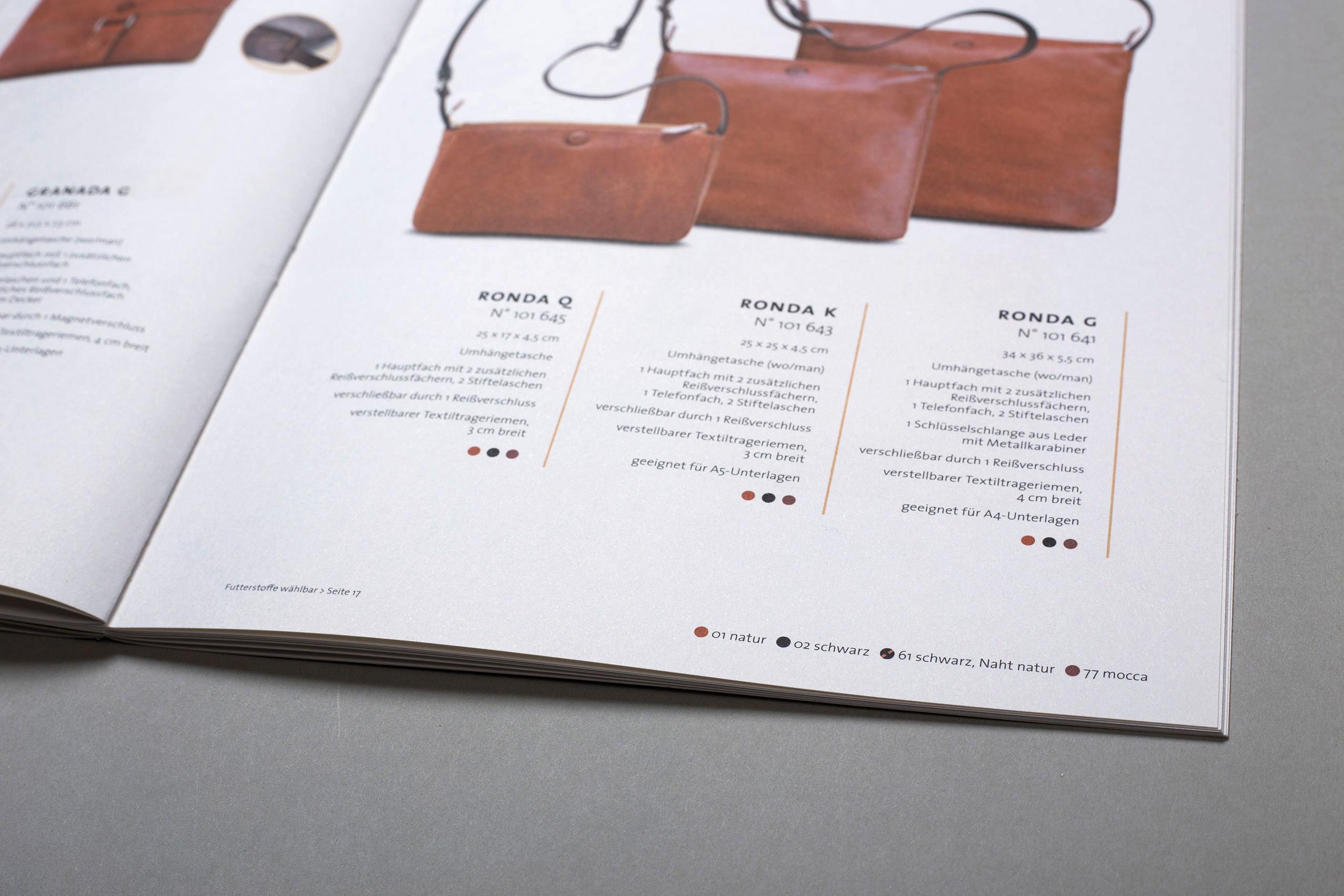 Sonnenleder Katalog Innenseiten