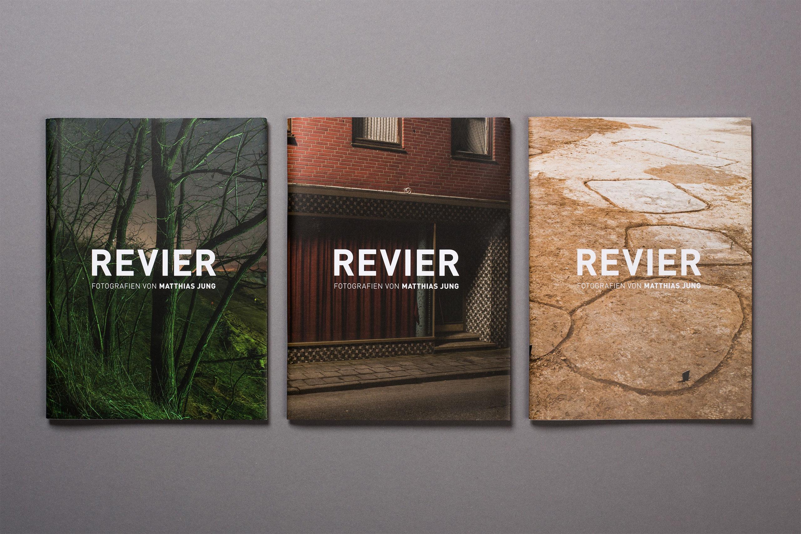 Revier Fotoband, drei Cover